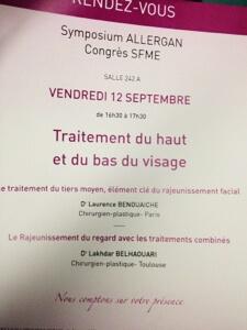 Congrès SFME 2014 : symposium Allergan
