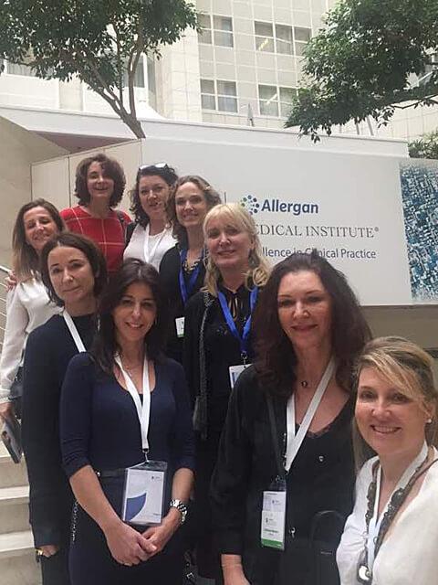 Chirurgiens esthétiques au meeting Allergan, Prague 2017