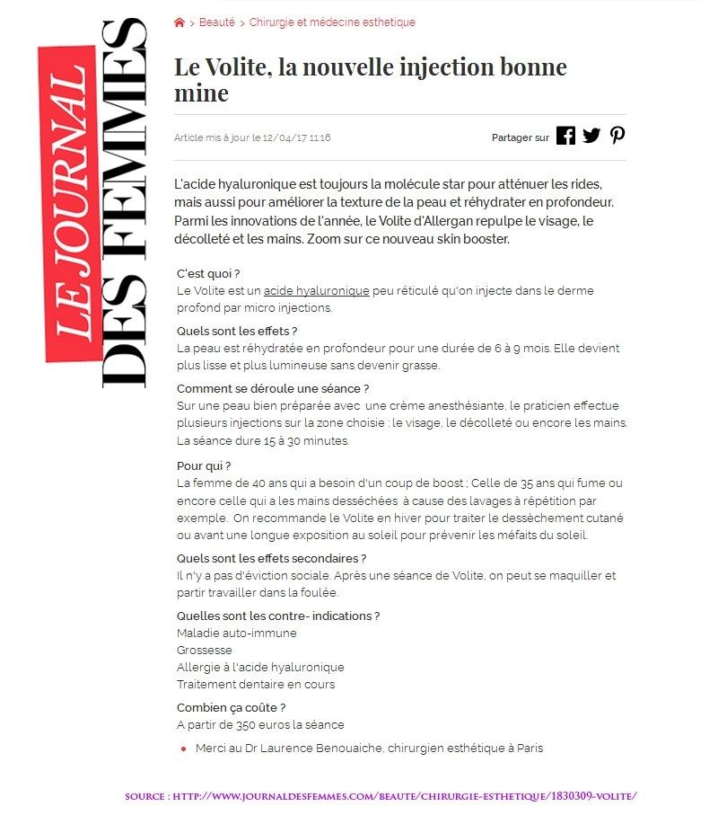 Journal des Femmes : Volite d'Allergan