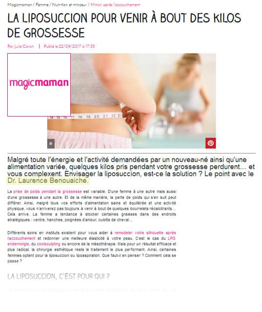 Magicmaman : la liposuccion pour remodeler sa silhouette après un accouchement